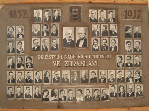 Tablo ochotníků 1857
